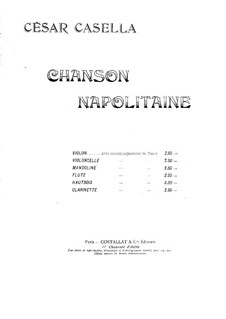 Neapolitan Song for Cello and Piano: Score by Cesar Casella