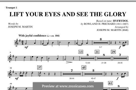 Lift Your Eyes and See The Glory: Bb Trumpet 1 part by Rowland Huw Prichard