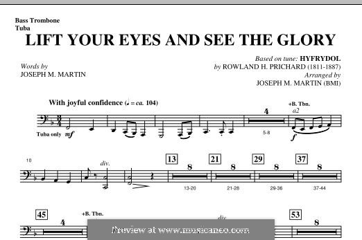 Lift Your Eyes and See The Glory: Bass Trombone/Tuba part by Rowland Huw Prichard