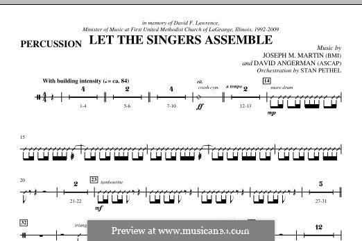 Let the Singers Assemble: Percussion part by David Angerman, Joseph M. Martin