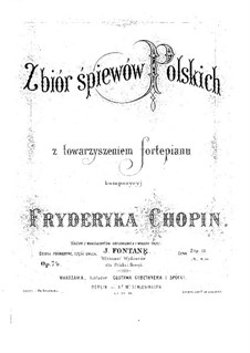 Seventeen Polish Songs, Op.74: Complete set by Frédéric Chopin