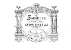 Five Sonatinas for Piano Four Hands, Op.24, 54, 58, 60: Five Sonatinas for Piano Four Hands by Anton Diabelli