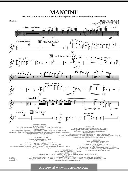 Mancini!: Flute 1 part by Henry Mancini
