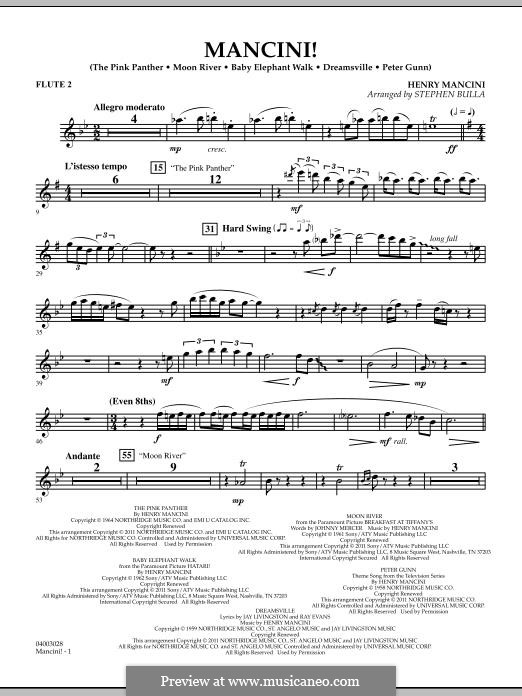 Mancini!: Flute 2 part by Henry Mancini