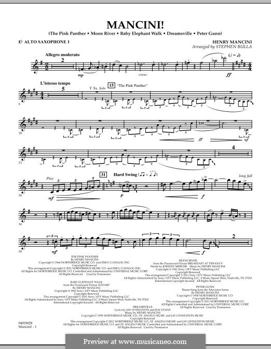 Mancini!: Eb Alto Saxophone 1 part by Henry Mancini