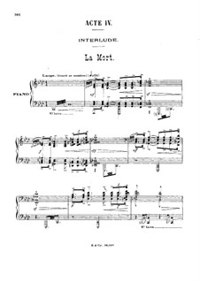 Antar: Act IV, for voices and piano by Gabriel Dupont