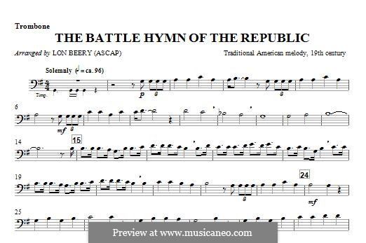 Battle Hymn of the Republic: For winds - Trombone part by William Steffe