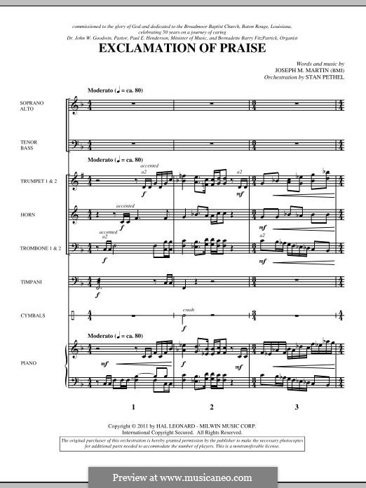 Exclamation of Praise: Score by Joseph M. Martin