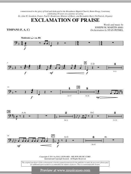 Exclamation of Praise: Timpani part by Joseph M. Martin