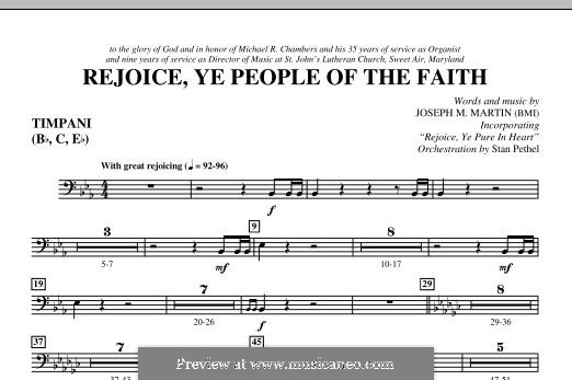 Rejoice, Ye People of the Faith: Timpani part by Joseph M. Martin