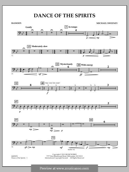 Dance of the Spirits: Bassoon part by Michael Sweeney