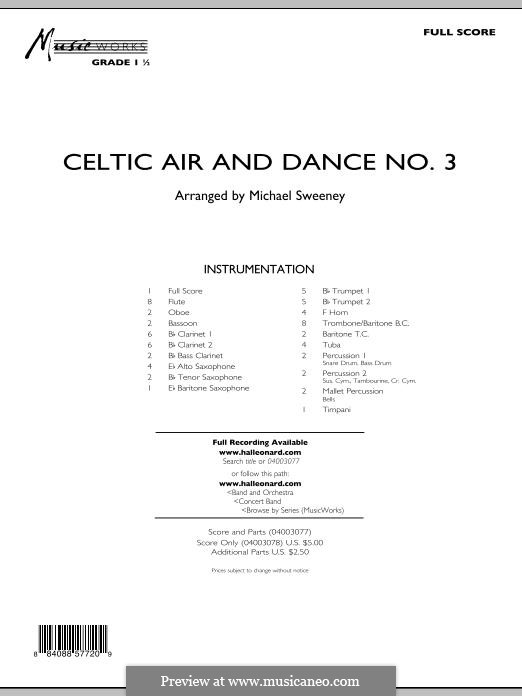 Celtic Air and Dance No.3: Full score by folklore