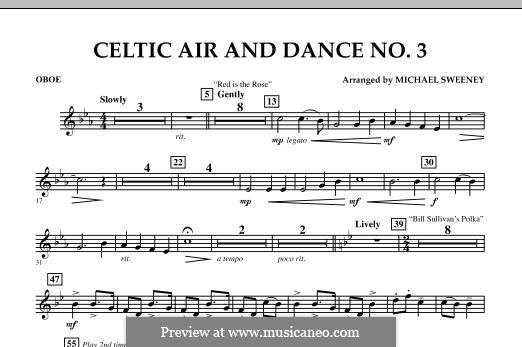 Celtic Air and Dance No.3: Oboe part by folklore