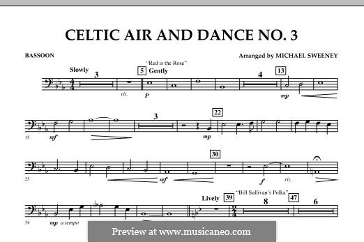 Celtic Air and Dance No.3: Bassoon part by folklore
