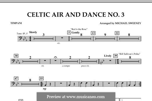Celtic Air and Dance No.3: Timpani part by folklore