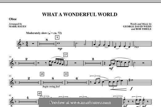 What a Wonderful World, for Orchestra (arr. Mark Hayes): Oboe part by Bob Thiele, George David Weiss