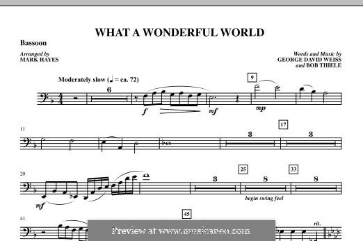 What a Wonderful World, for Orchestra (arr. Mark Hayes): Bassoon part by Bob Thiele, George David Weiss
