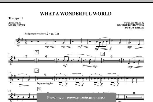 What a Wonderful World, for Orchestra (arr. Mark Hayes): Trumpet 1 part by Bob Thiele, George David Weiss