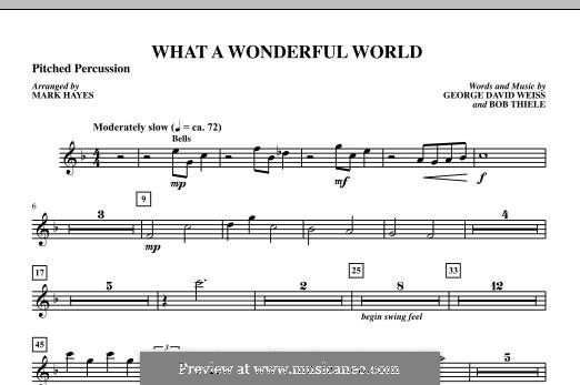 What a Wonderful World, for Orchestra (arr. Mark Hayes): Percussion II part by Bob Thiele, George David Weiss