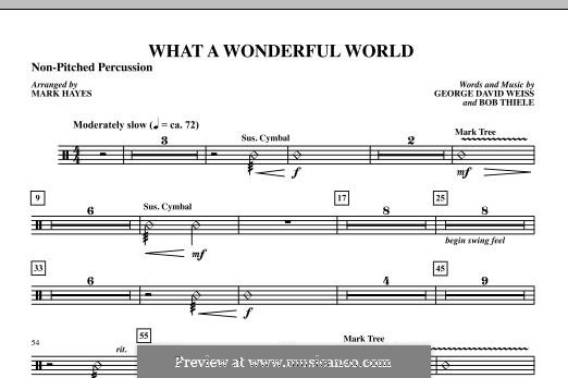What a Wonderful World, for Orchestra (arr. Mark Hayes): Percussion III part by Bob Thiele, George David Weiss