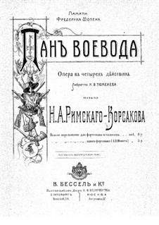 Pan Voyevoda, Op.59: Piano-vocal score by Nikolai Rimsky-Korsakov