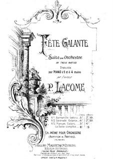Fete galante: Fete galante by Paul Lacôme d'Estalenx
