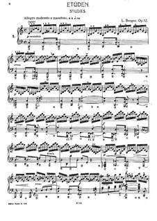 Twelve Etudes, Op.12: Complete set by Ludwig Berger