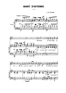 Chant d'automne (Autumn Song): French text by Charles Gounod