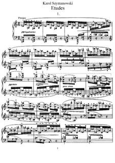 Twelve Etudes, Op.33: Complete set by Karol Szymanowski