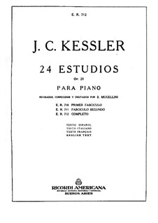 Twenty-Four Etudes for Piano, Op.20: Complete set by Joseph Christoph Kessler