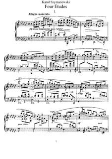 Four Etudes, Op.4: For piano by Karol Szymanowski
