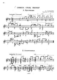 Suite in G Minor: Suite in G Minor by Ludovico Roncalli