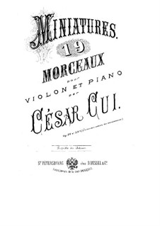 Seven Miniatures for Violin and Piano, Op.39: Score for two performers by César Cui
