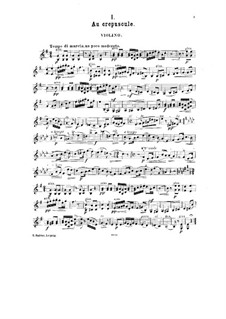 Petite suite for Violin and Piano, Op.14: Solo part by César Cui