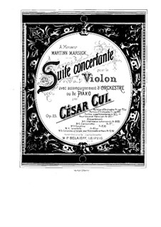 Concert Suite for Violin and Orchestra, Op.25: Solo part by César Cui