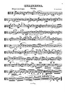 String Quartet in E Flat Major, Op.19: Viola part by Édouard Lalo