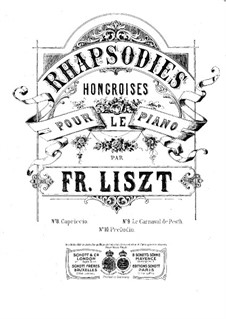 No.9 in E Flat Major, S.244: For two pianos eight hands – piano I part by Franz Liszt