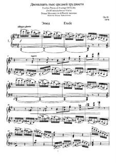 Twelve Pieces , TH 138 Op.40: No.1 Etude by Pyotr Tchaikovsky