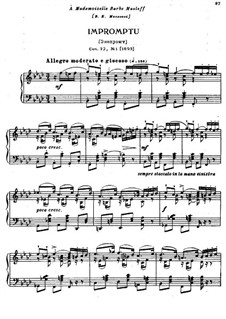 Eighteen Pieces for Piano, TH 151 Op.72: No.1 Impromptu by Pyotr Tchaikovsky