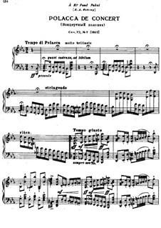 Eighteen Pieces for Piano, TH 151 Op.72: No.7 Polacca de concert by Pyotr Tchaikovsky