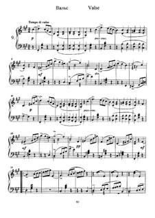 Twelve Pieces , TH 138 Op.40: No.9 Waltz by Pyotr Tchaikovsky