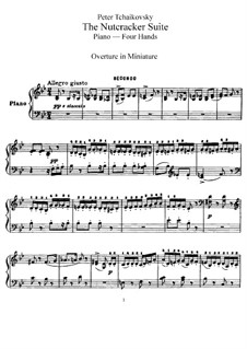 Complete Movements: For piano four hands by Pyotr Tchaikovsky