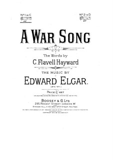 Two Songs, Op.5: No.1 A War Song by Edward Elgar