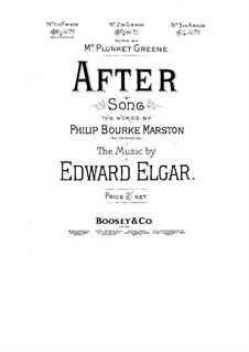 Two Songs, Op.31: No.1 After by Edward Elgar