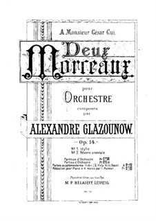 Two Pieces for Orchestra, Op.14: Two Pieces for Orchestra by Alexander Glazunov