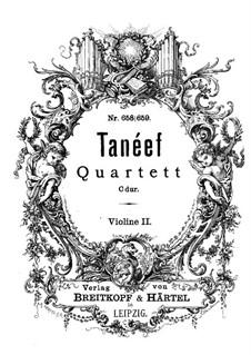 String Quartet in C Major: Violin II part by Sergei Taneyev