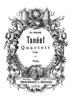 String Quartet in C Major: Viola part by Sergei Taneyev