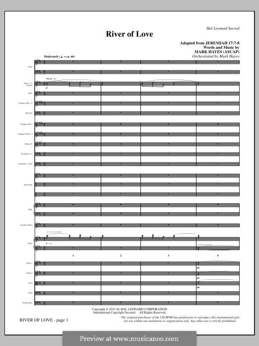 River of Love: Full score by Mark Hayes