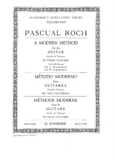 A Modern Method for Guitar: Volume I by Francisco Tárrega