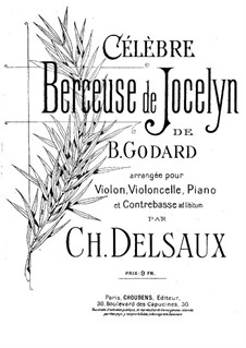 Berceuse: For violin, cello, piano and double bass (ad libitum) by Benjamin Godard